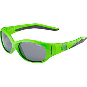 Alpina Flexxy Brille Kinder green dino